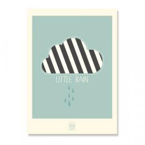 lmh-pr-001_Little Rain_Poster_50x70_mint green_frontone