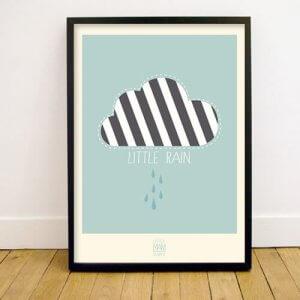 lmh-pr-001_Little Rain_Poster_50x70_mint green_fronttwo