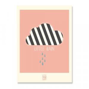 lmh-pr-003_Little Rain_Poster_50x70_rose_frontone