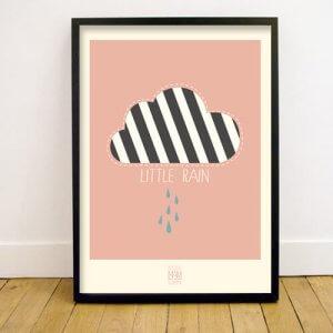 lmh-pr-003_Little Rain_Poster_50x70_rose_fronttwo