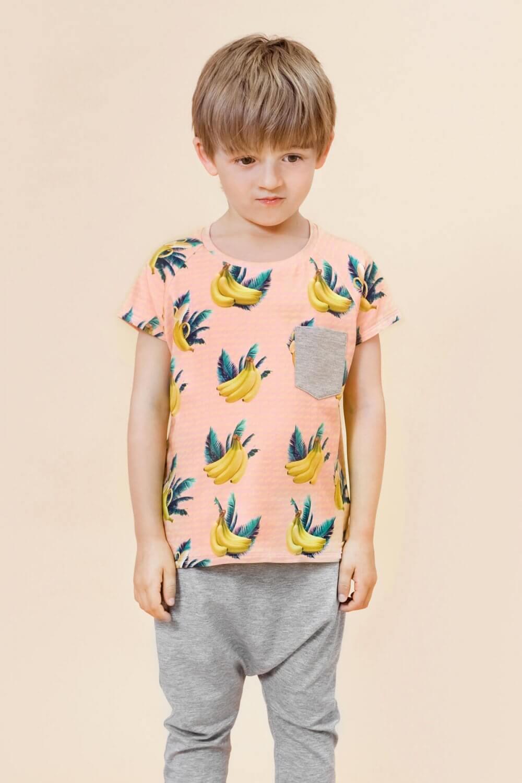 Little Man Happy BANANA SKY Pocket Shirt ALL GREY Summer Baggy Pants Mood