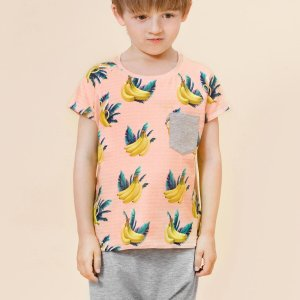 Little Man Happy BANANA SKY Pocket Shirt ALL GREY Summer Baggy Pants Mood
