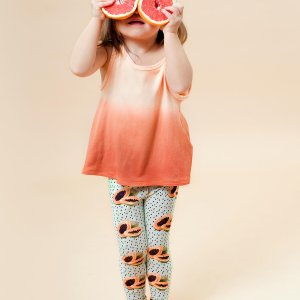 Little Man Happy DYED ORANGE Tank Girls MAYA PAPAYA Leggings Mood