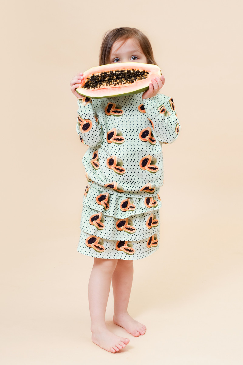 Little Man Happy MAYA PAPAYA Cropped Sweater MAYA PAPAYA Volant Skirt Mood