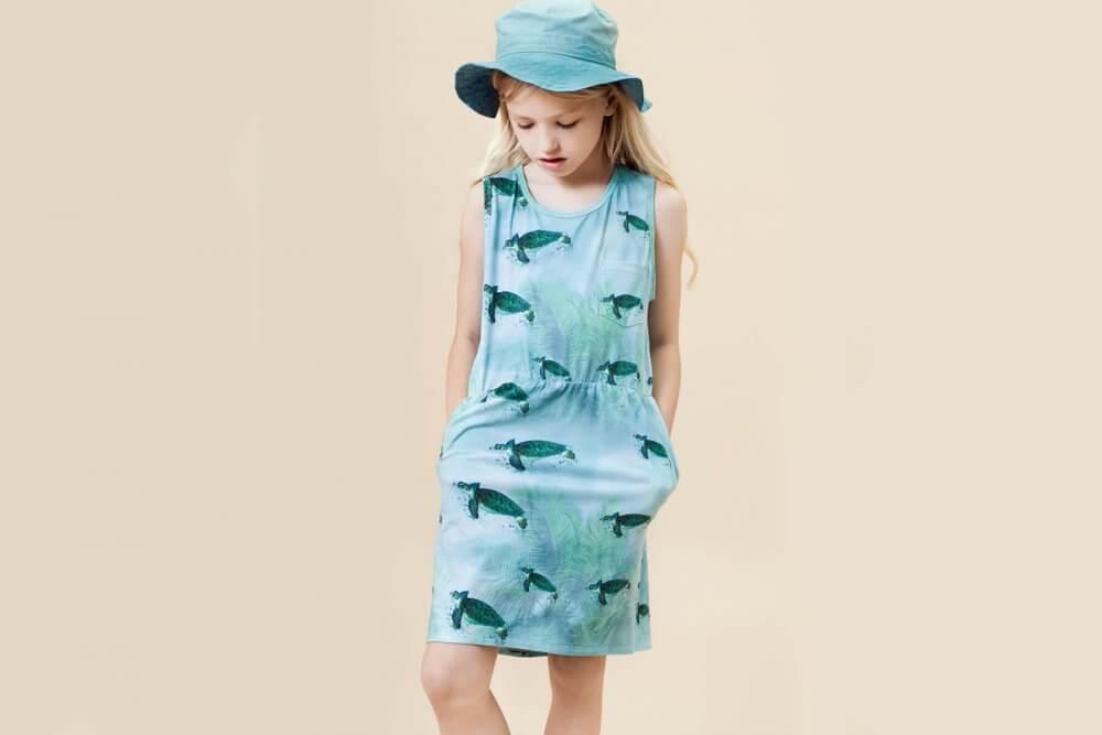 Little Man Happy MIAMI TURTLE Pocket Dress Mood I