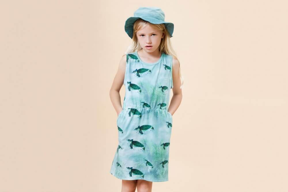 Little Man Happy MIAMI TURTLE Pocket Dress Mood II