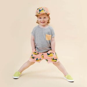 Little Man Happy ORANGE DIP Pocket Shirt BANANA SKY Bermuda Shorts Mood I