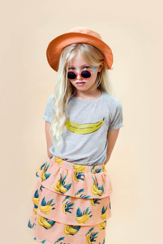 Little Man Happy PURE BANANA Raglan Shirt BANANA SKY Volant Dress Mood I