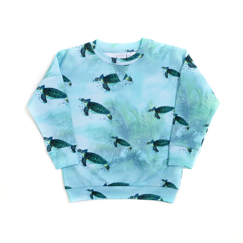 Little Man Happy MIAMI TURTLE Cropped Sweater