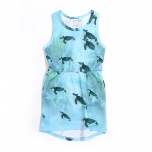 Little Man Happy MIAMI TURTLE Pocket Dress