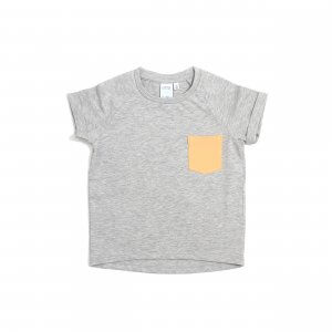Little Man Happy ORANGE DIP Pocket Shirt