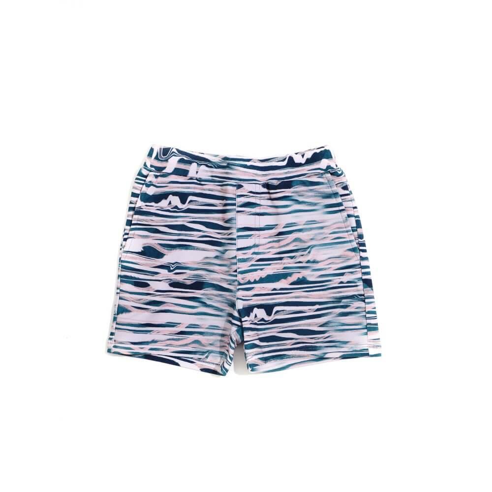 Little Man Happy WAVES Bermuda Shorts front