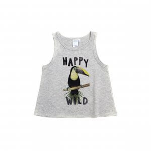 Little Man Happy WILD TUCANO Tank grey