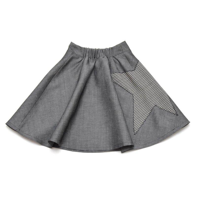 blackstar midi skirt side