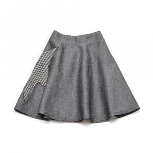 blackstar midi skirt