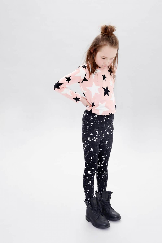 knock out longsleeve galaxy leggings