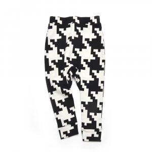 black and white organic unisex kids pants made of organic cotton