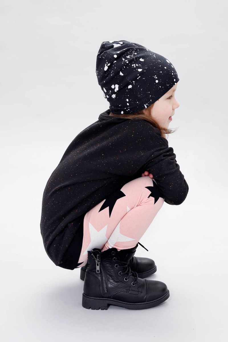 sparkled black sweater knock out leggings galaxy beanie