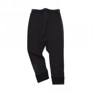 frontside of unisex black sweatpants made of organic cotton