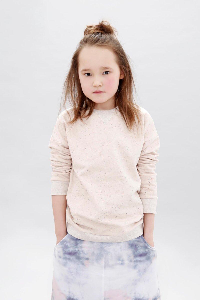 sparkled rose sweater blurred lines flared skirt