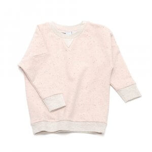 frontside of rose girls sweater made of organic cotton