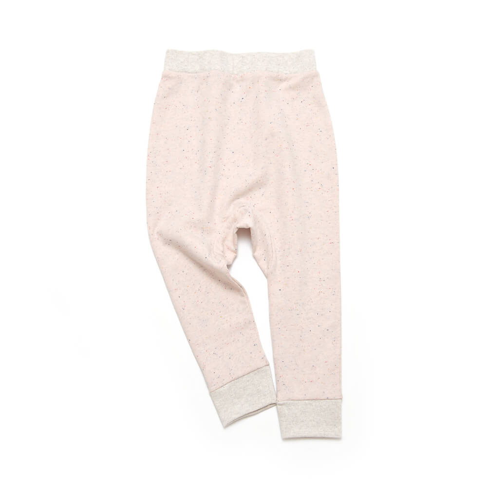 frontside of rose girls sweatpants made of organic cotton