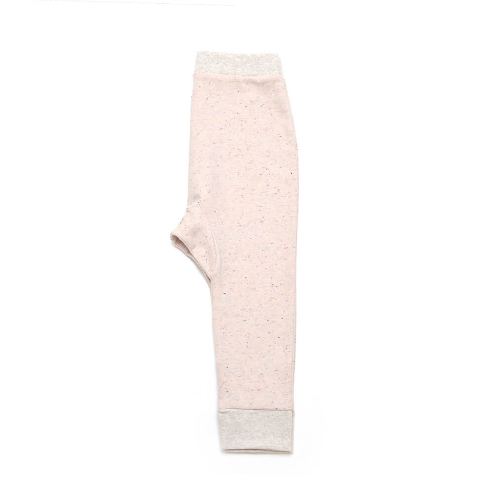 sideview of rose girls sweatpants made of organic cotton
