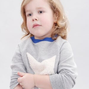 star raglan sweater