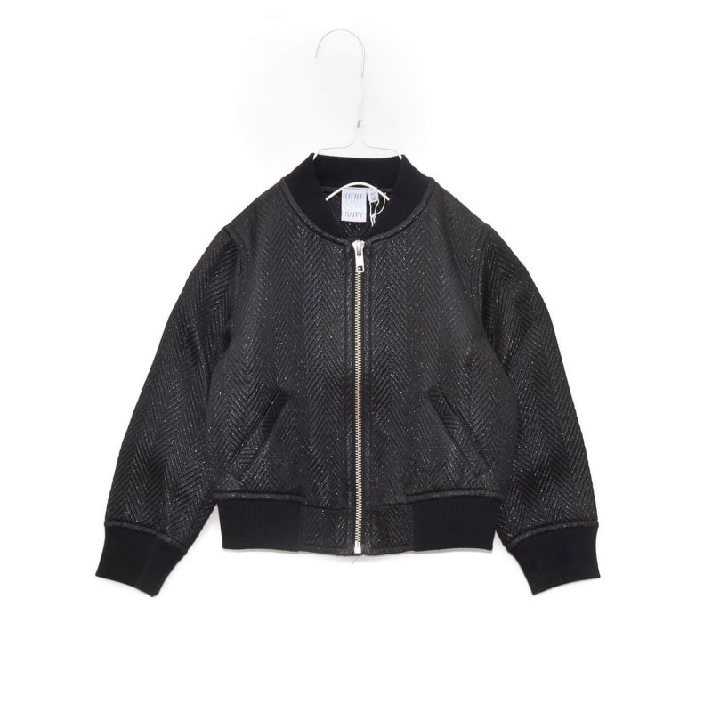 designer kids fashion | ALL BLACK Bomber Jacket | Little Man Happy