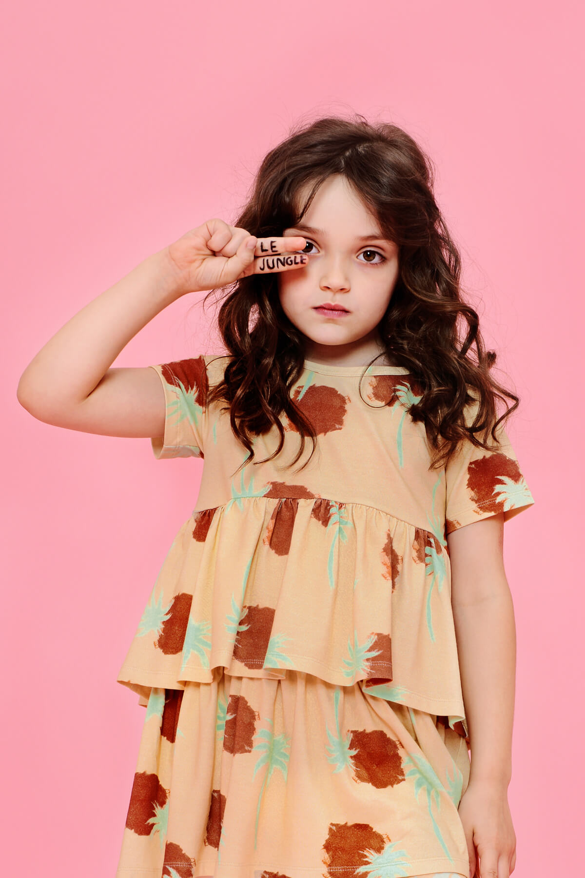 girls organic dress | designerwear | certified | Little Man Happy