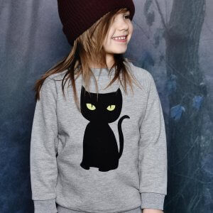 black cat sweater | organic | certified | Little Man Happy