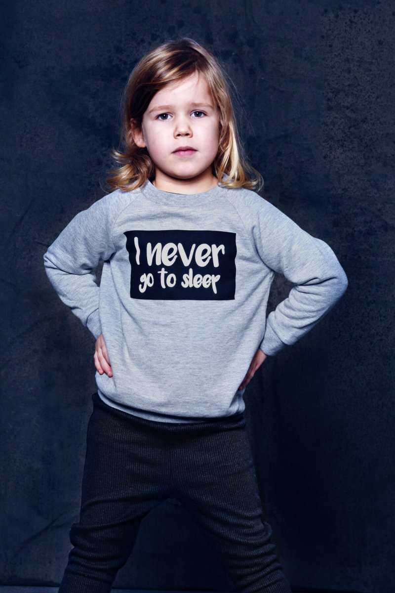 unisex statement sweater   organic   certified   Little Man Happy
