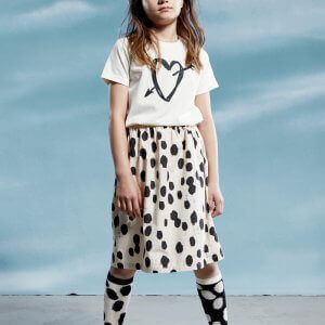 unisex kids top beautiful girls skirt