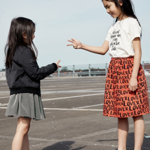 organic kids top organic girls skirt