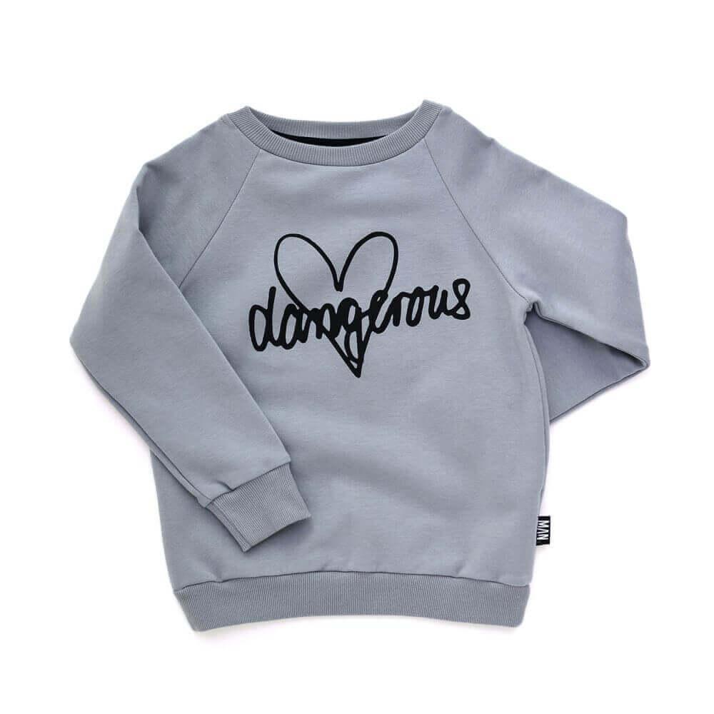grey designer kids sweater
