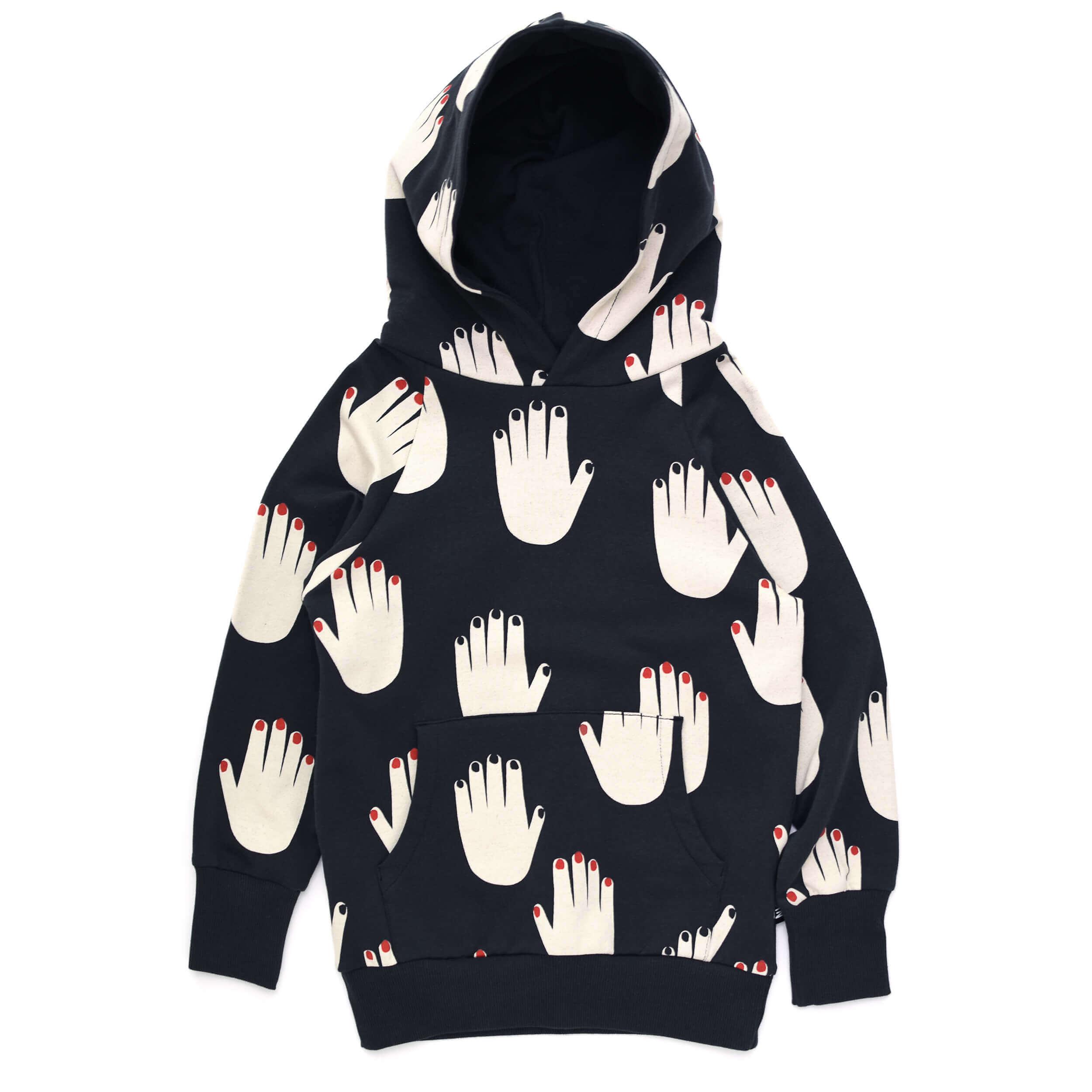 black designer kids hoodie