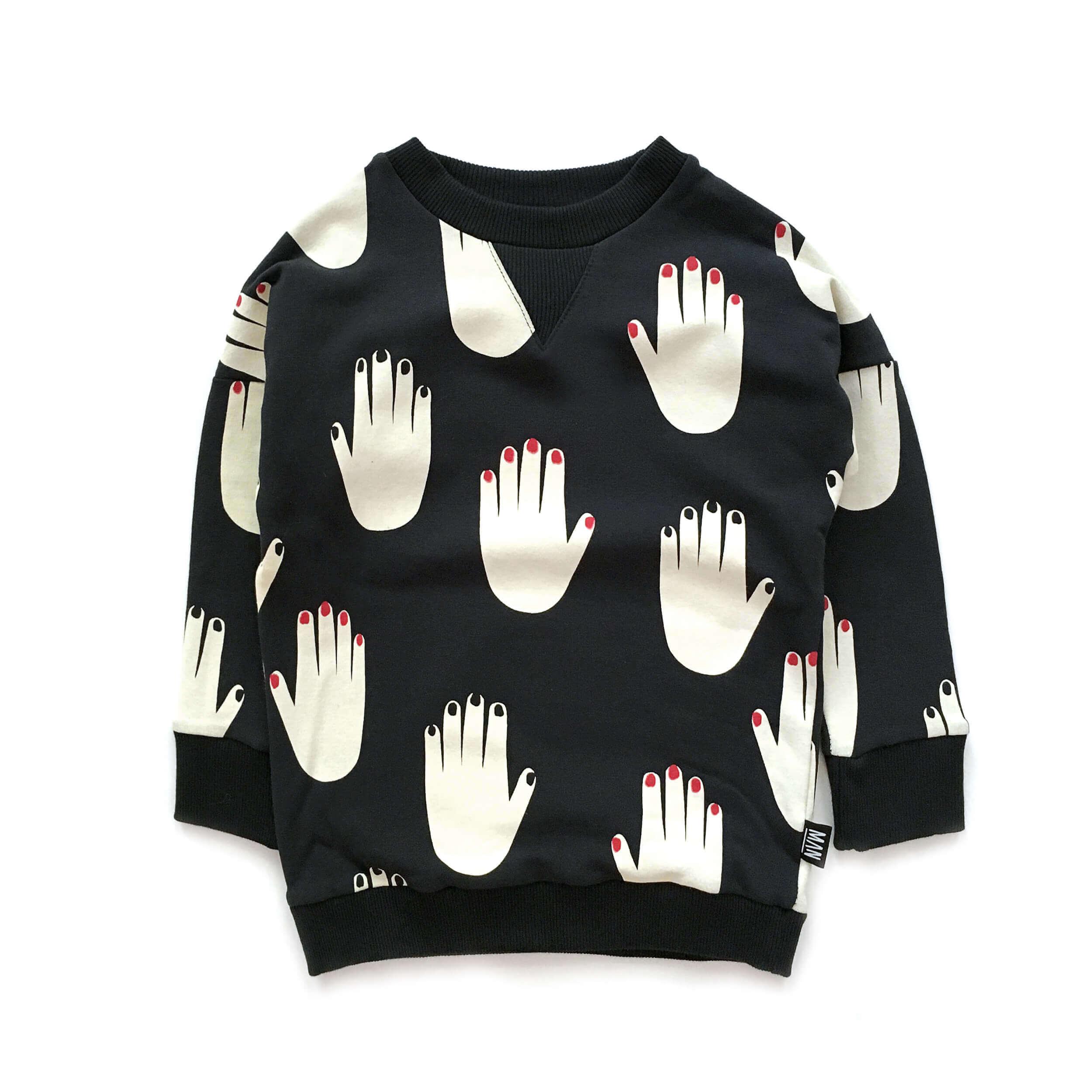 black designer sweater