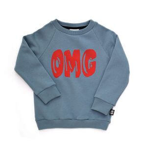 blue designer kids sweater