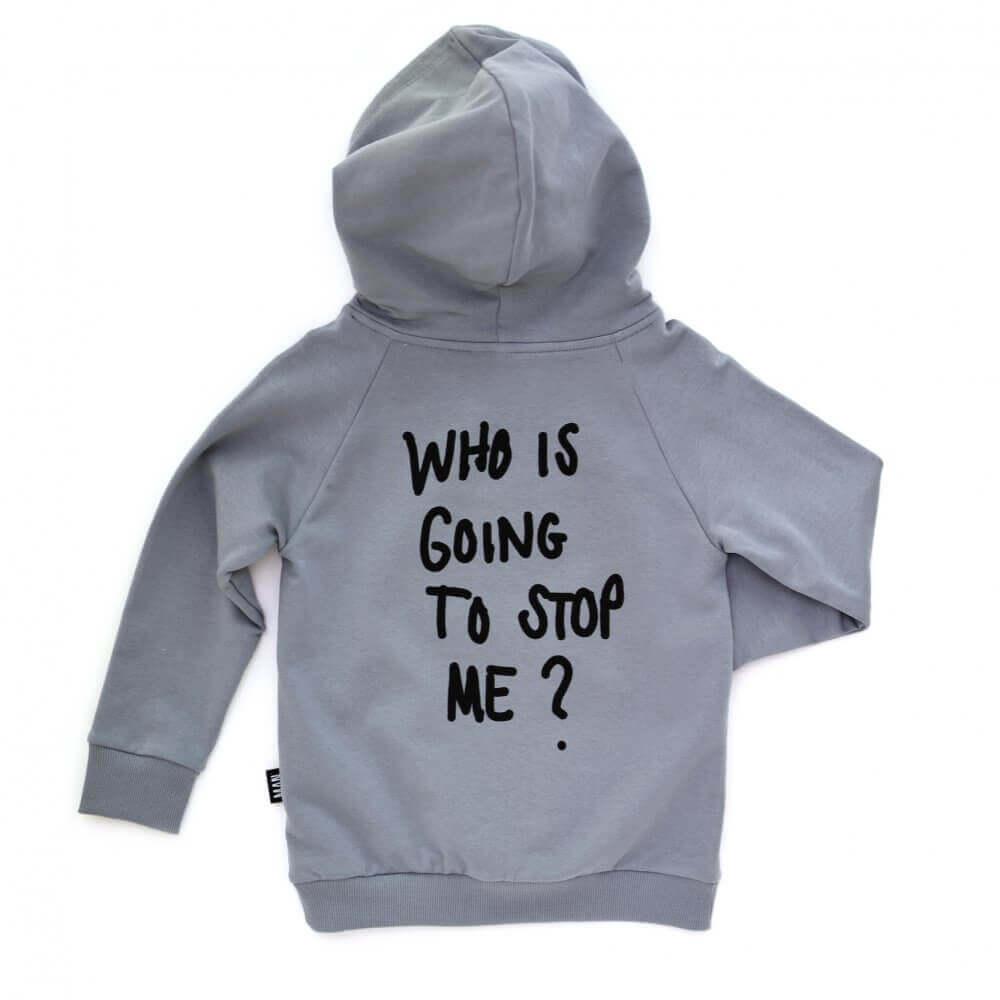 grey kids hoodie