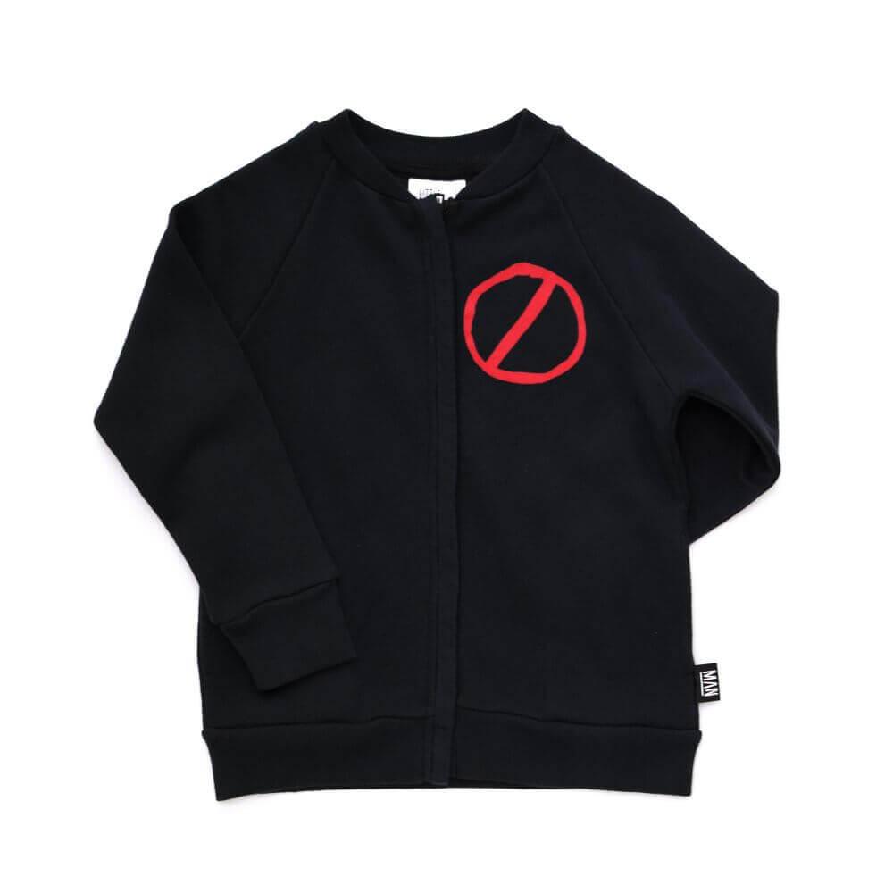 black unisex jacket front