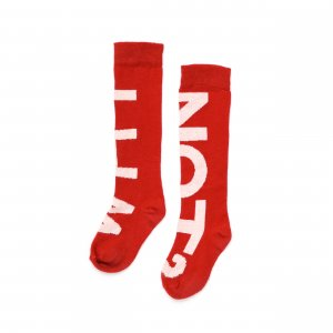 red kids socks