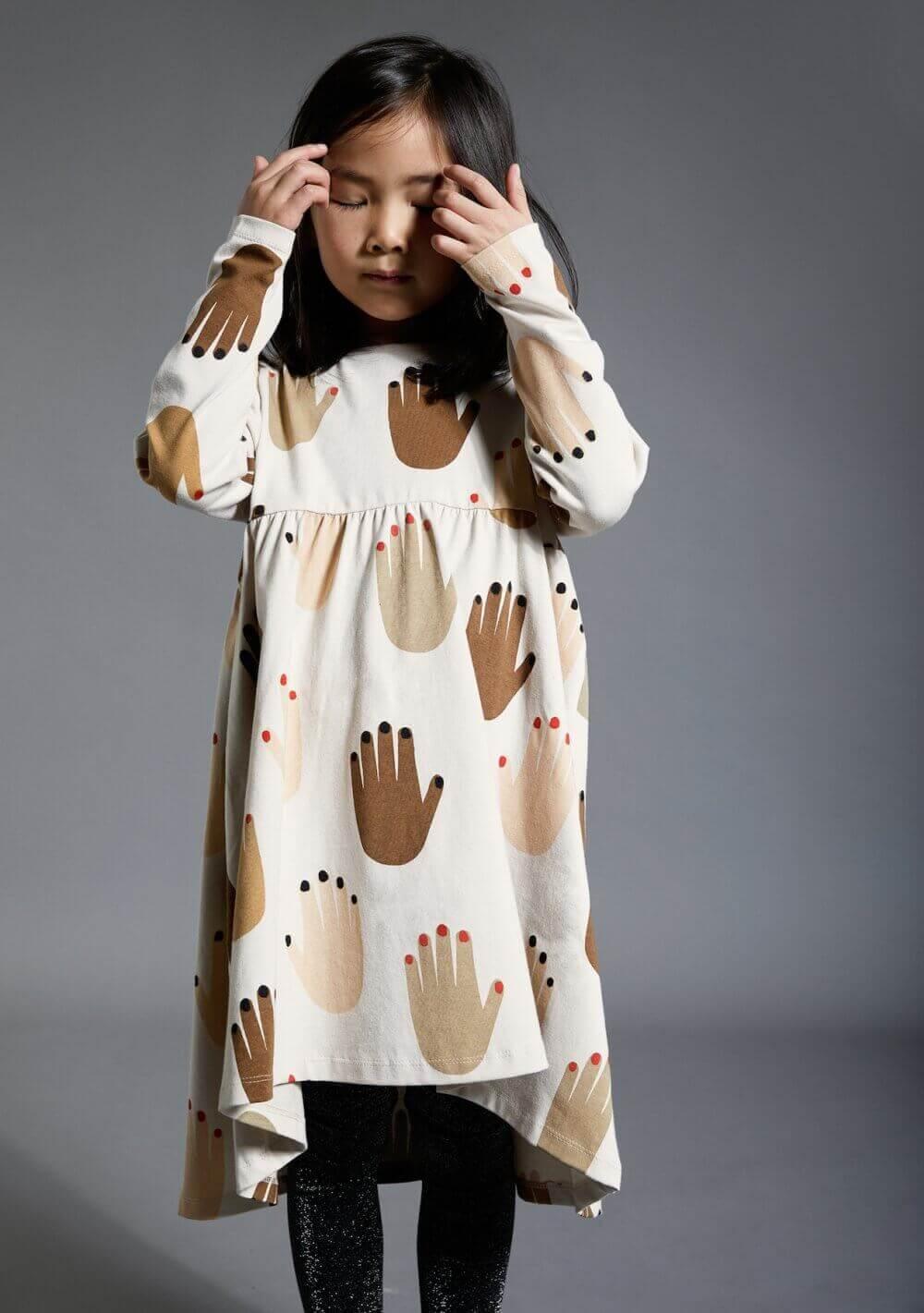 beige jersey dress