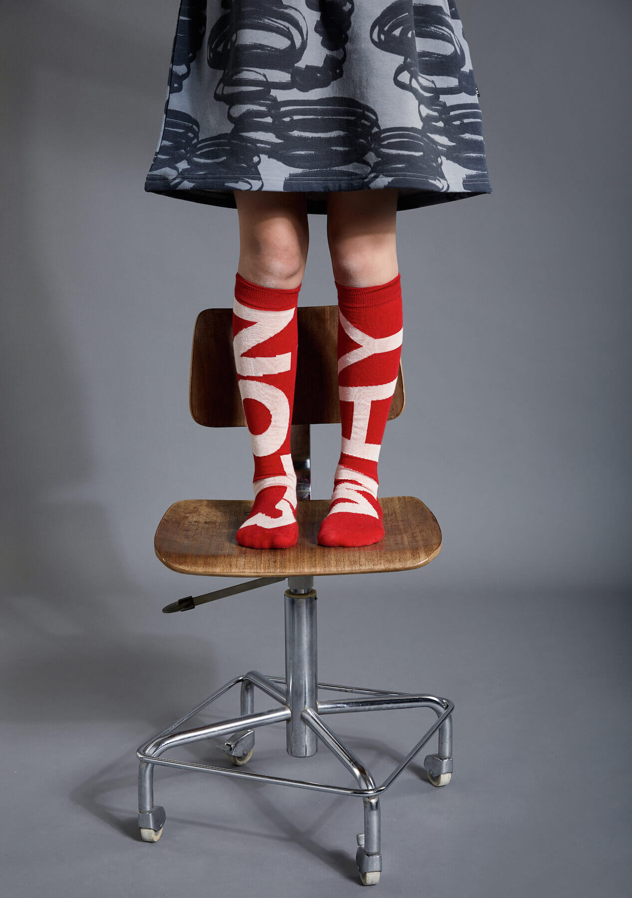 red kids socks
