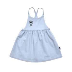 denim girls dress front