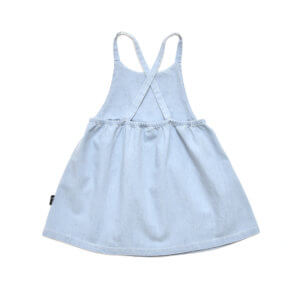 denim girls dress back