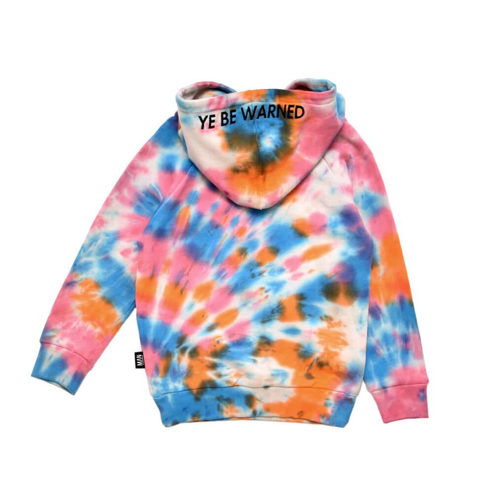 multicolor kids hoodie back