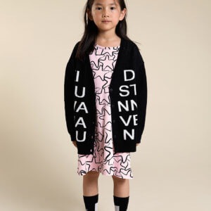 kids knit cardigan cool kids pink girls dress
