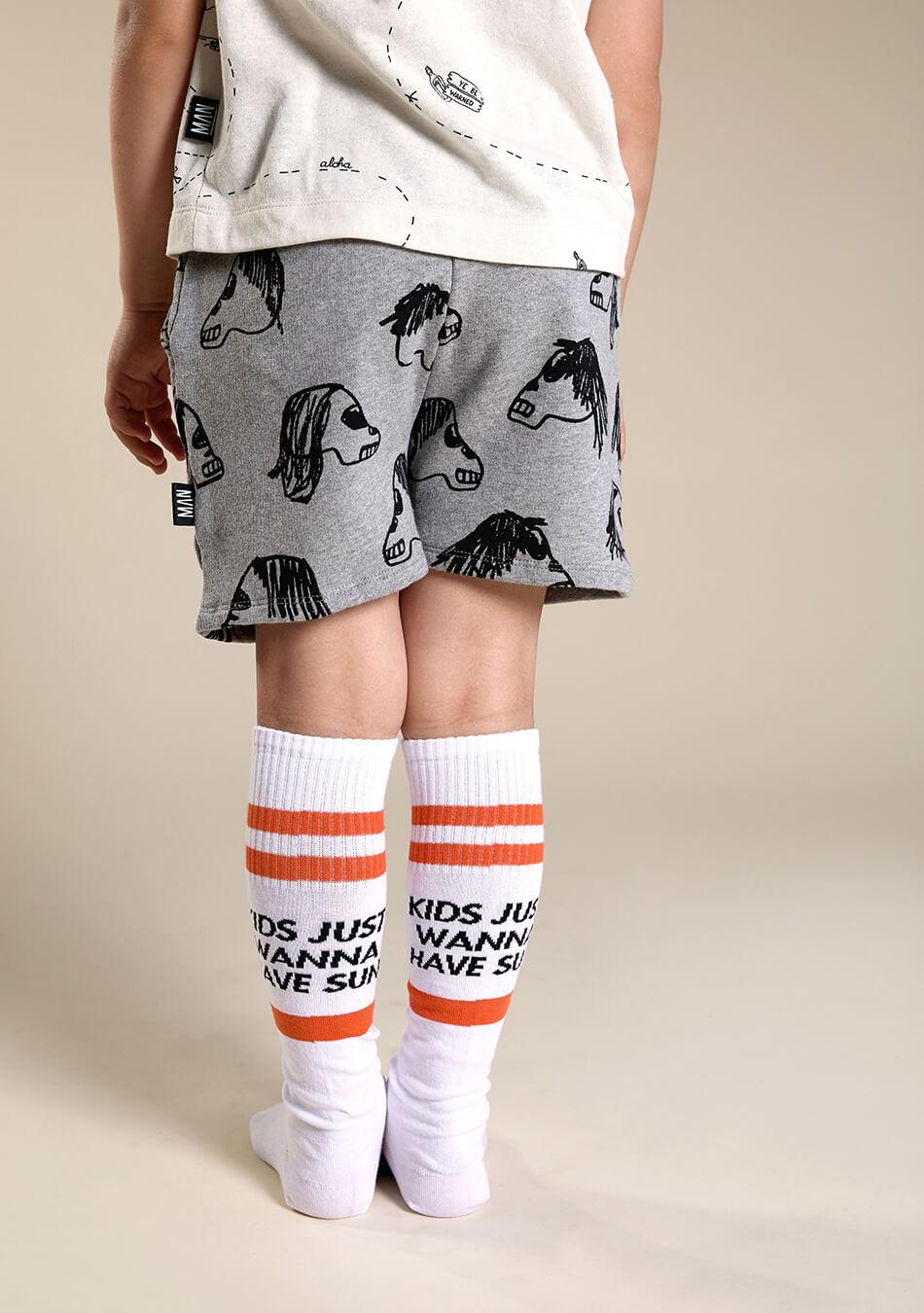 white kids socks
