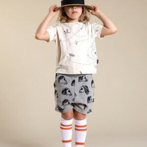 grey bermuda shorts white kids socks