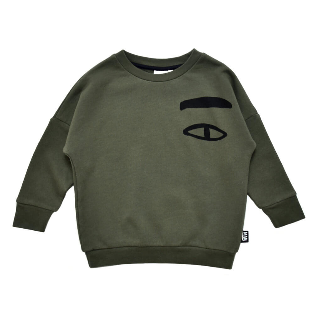 green kids sweater
